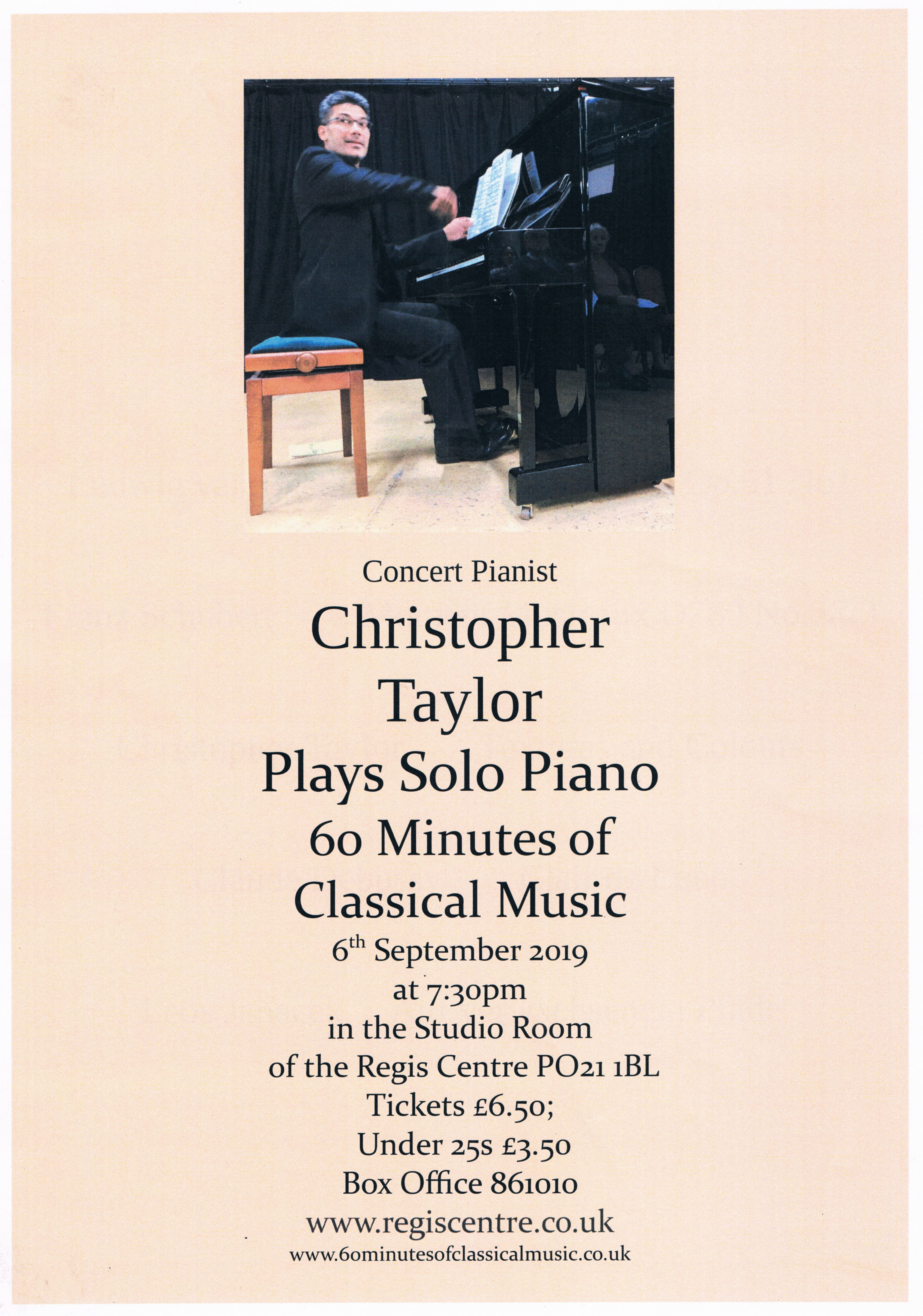 60 Minutes of Classical Music – Regis Centre